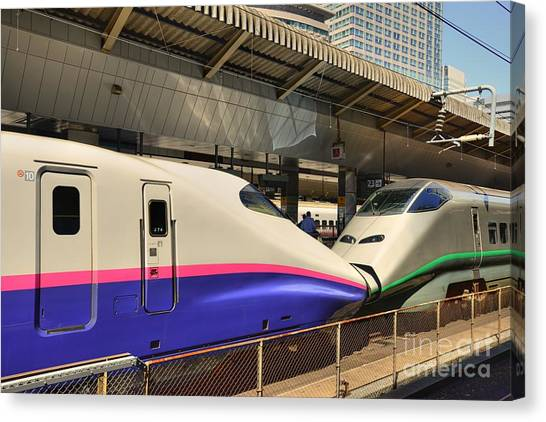 Bullet Trains Canvas Print - Bullet Trains by David Bearden