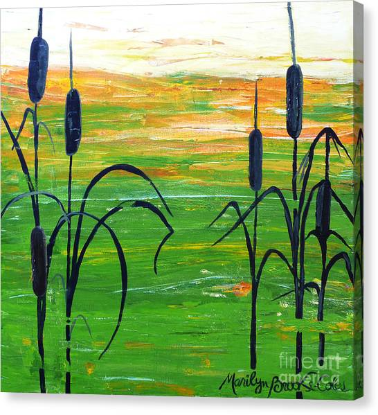 Bullrushes Canvas Print
