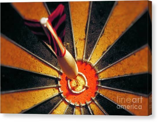 Goal Canvas Print - Bulls Eye by John Greim