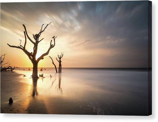 Long Exposure Canvas Print - Bulls Island Sunrise by Ivo Kerssemakers