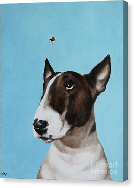Bully And Bee Canvas Print