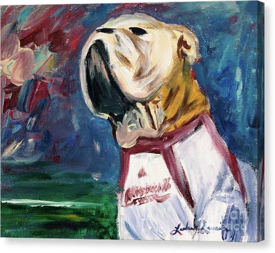 University Of Mississippi Ole Miss Canvas Print - Bully by Leslie Saucier
