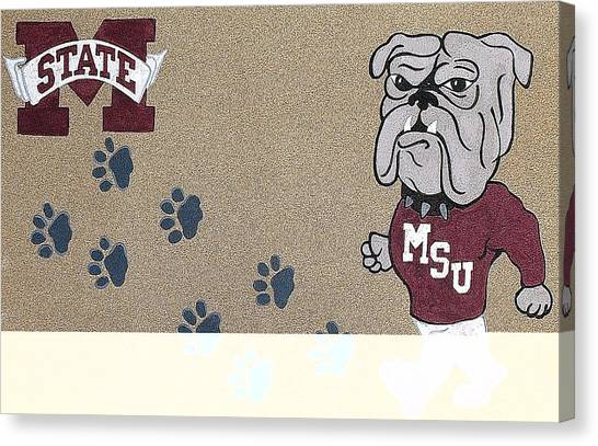 Mississippi State University Canvas Print - Bully Walk by Steve Cochran