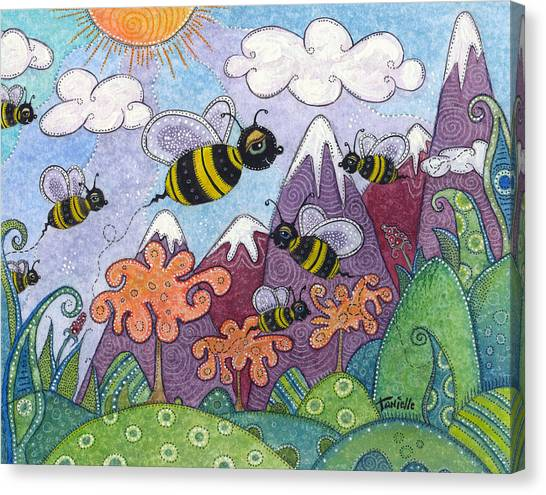 Bumble Bee Buzz Canvas Print