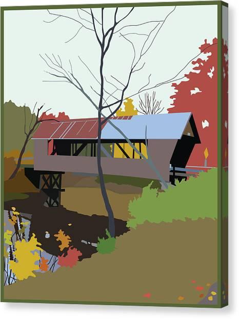 Bump Bridge Canvas Print by Marian Federspiel