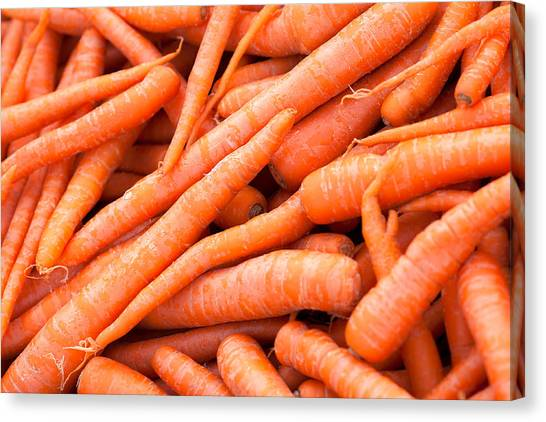 Carrots Canvas Print - Bunch Of Carrots by Todd Klassy