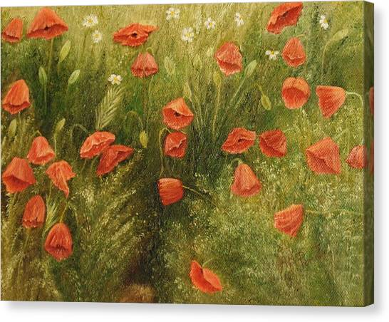 Bunch Of Poppies Canvas Print