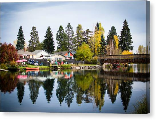 bungalows on the Deschutes Canvas Print