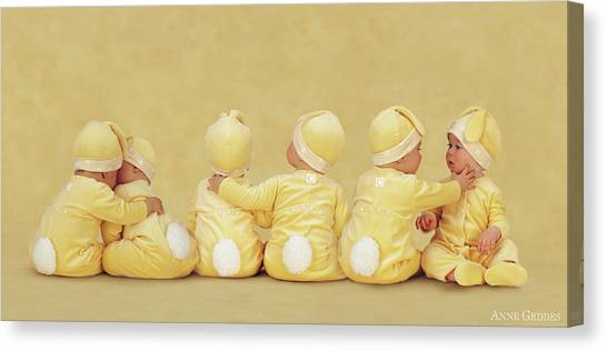 Easter Canvas Print - Bunnies by Anne Geddes