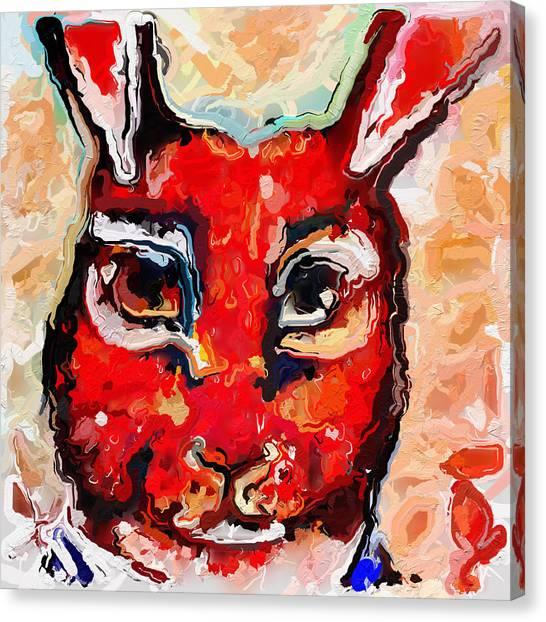Canvas Print - Bunny Head by Modern Art