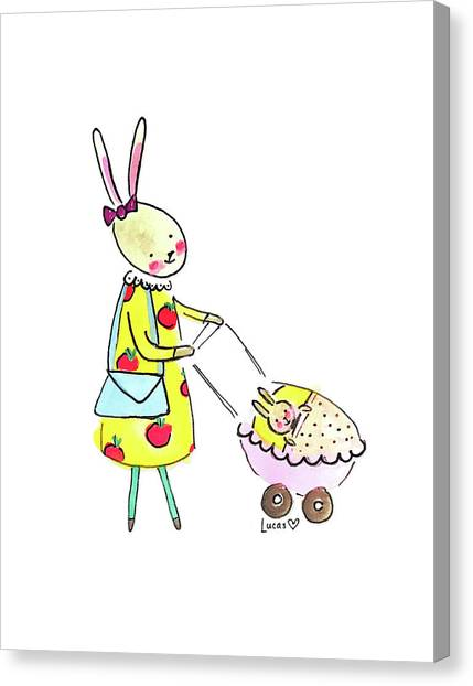 New Baby Canvas Print - Bunny Mom by Ashley Lucas