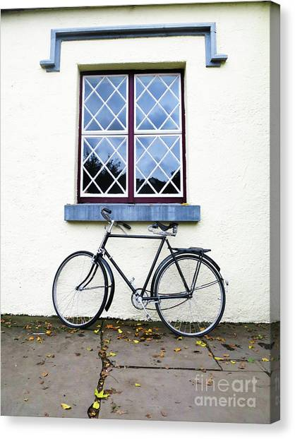 Canvas Print featuring the photograph Bunratty Bike by Rick Locke