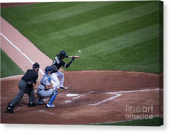 Chicago White Sox Canvas Print - Bunting by David Bearden
