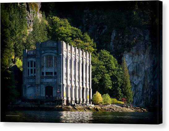 Buntzen Lake Power Station  Canvas Print