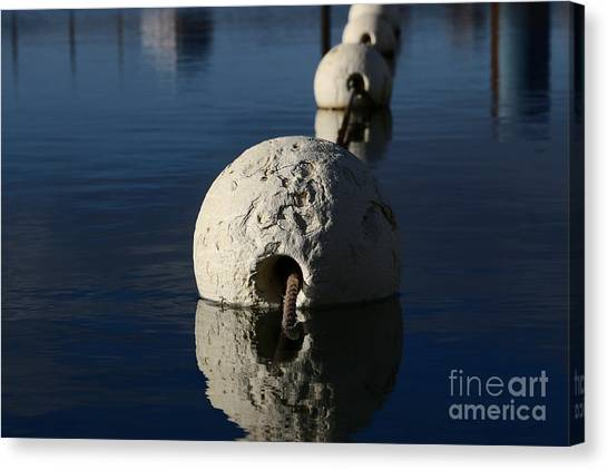 Canvas Print featuring the photograph Buoy Upfront by Stephen Mitchell