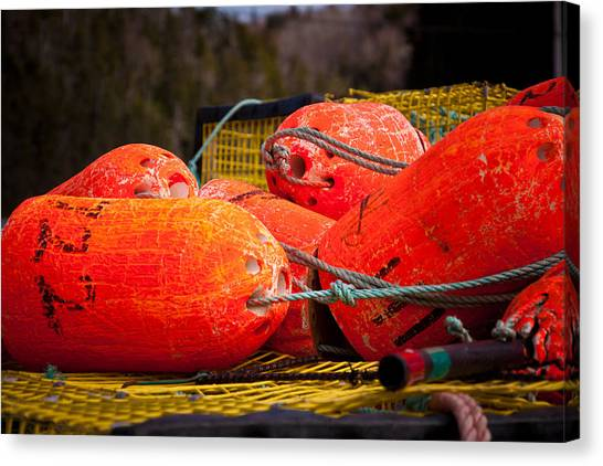 Buoys Canvas Print by Gregory Bland