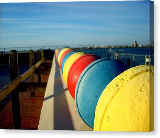 Buoys In Line Canvas Print