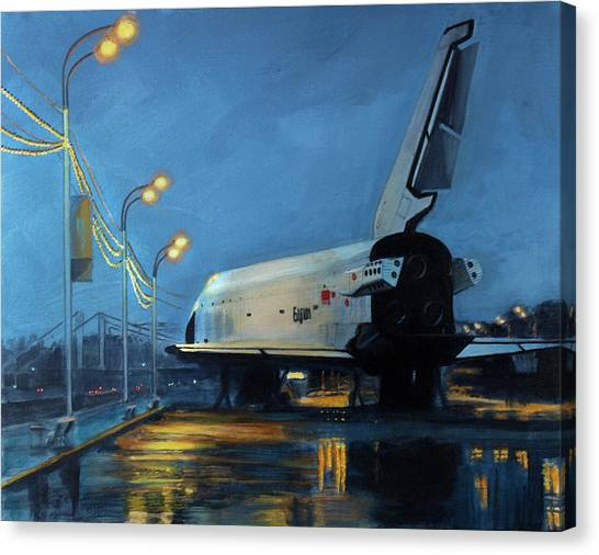 Space Ships Canvas Print - Buran by Simon Kregar