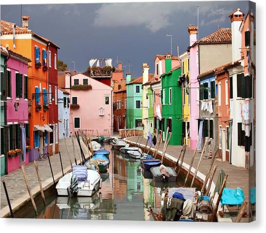 Burano Colours Canvas Print
