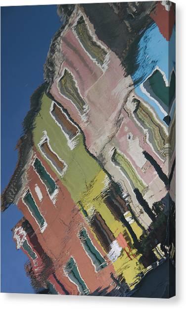 Burano Italy Reflections Canvas Print
