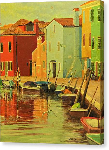 Burano, Italy - Study Canvas Print