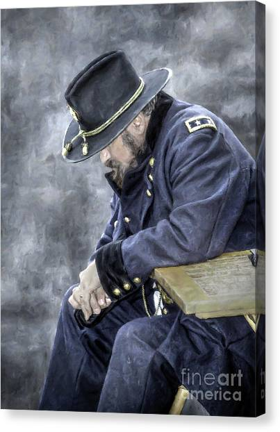 Army Of The Potomac Canvas Print - Burden Of War Civil War Union General by Randy Steele