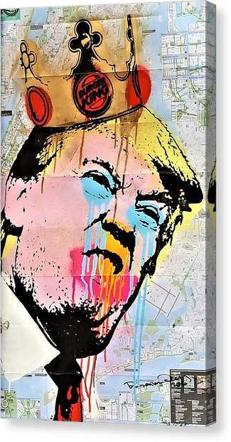 Burger King Trump Canvas Print