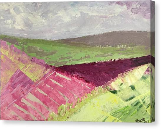 Burgundy Fields Canvas Print