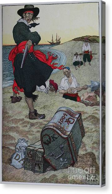 Buried Canvas Print - Buried Treasure by Celestial Images