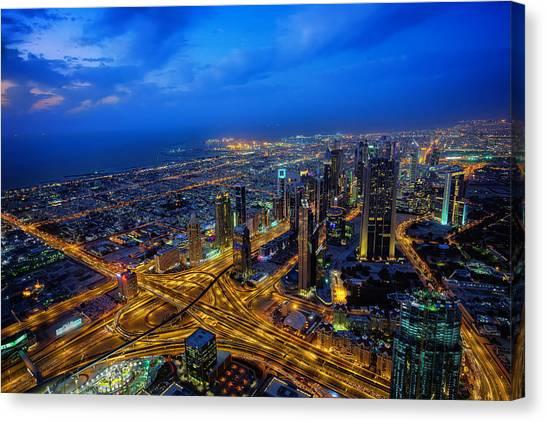 Burj Khalifa View Canvas Print