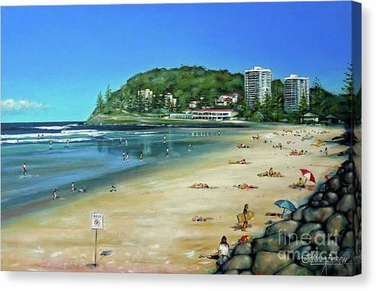 Burleigh Beach 100910 Canvas Print