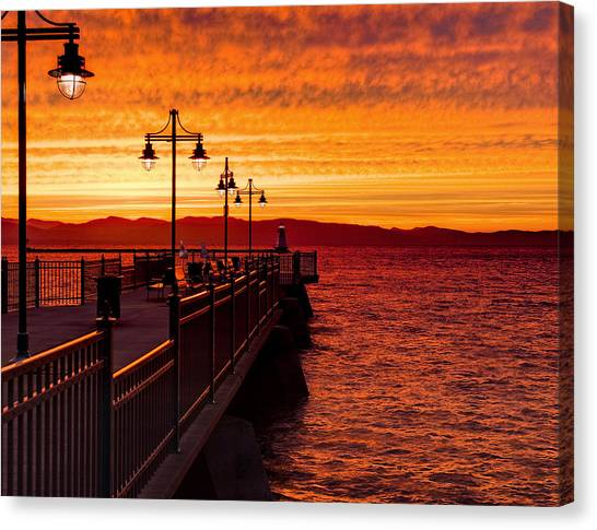 Burlington Sunset Canvas Print
