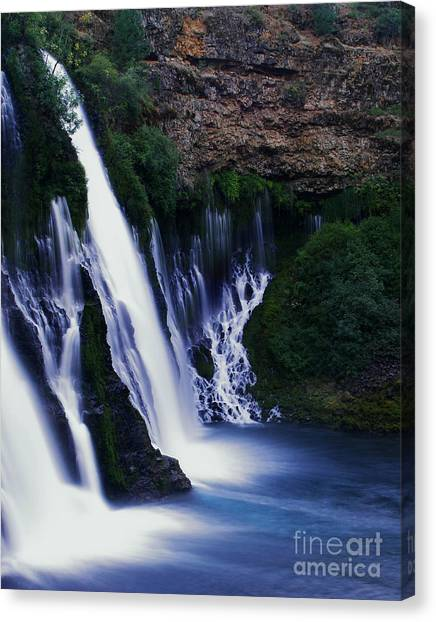 Waterfalls Canvas Print - Burney Blues by Peter Piatt