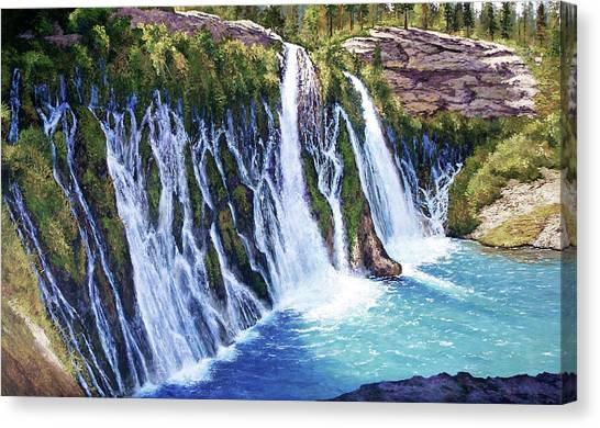 Burney Falls Canvas Print by Donald Neff
