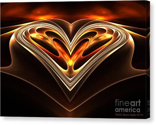 Burning Desire Canvas Print by Sandra Bauser Digital Art