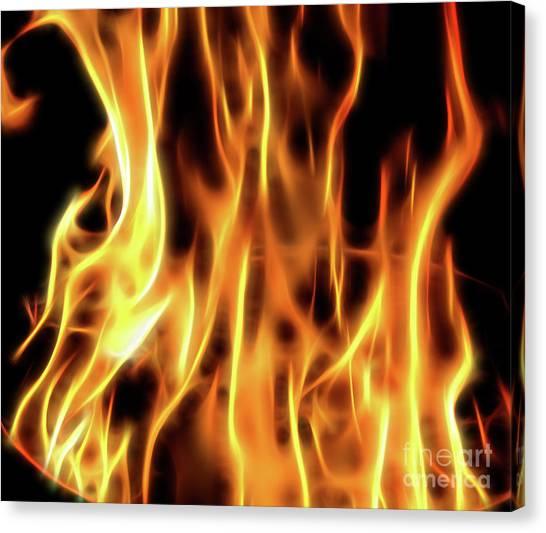Burning Flames Fractal Canvas Print