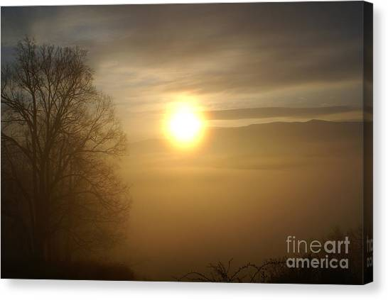 Burning Off The Fog Canvas Print