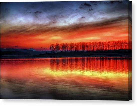Burning Sky Canvas Print
