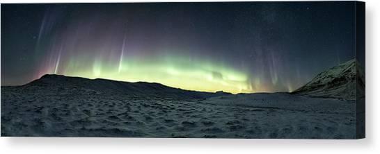 Aurora Borealis Canvas Print - Burning Sky by Tor-Ivar Naess