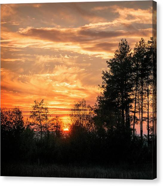 Burning Sunset. Horytsya, 2014. Canvas Print