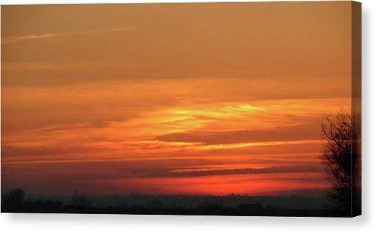Burning Sunset Canvas Print