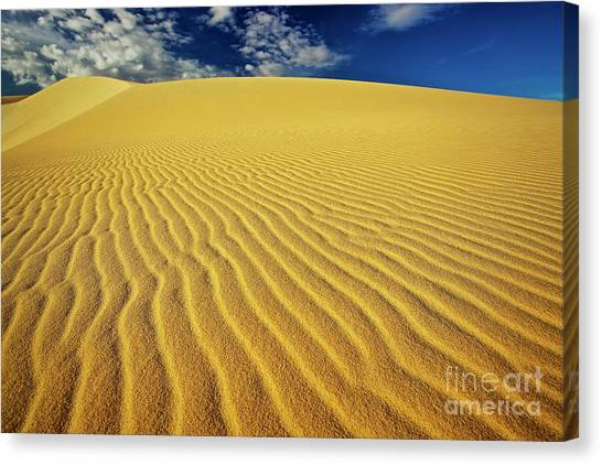 Burning Up At The White Sand Dunes - Mui Ne, Vietnam, Southeast Asia Canvas Print
