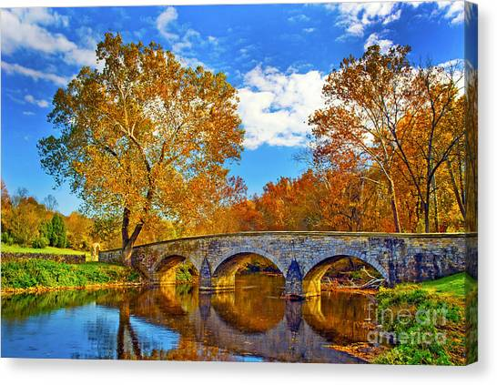Burnside Bridge At Antietam Canvas Print