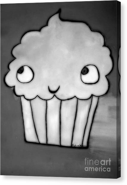 Burnt Cupcake Canvas Print by Sacred  Muse