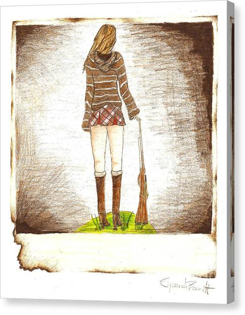 Hoodie Canvas Print - Burnt From A Far by Syvanah  Bennett