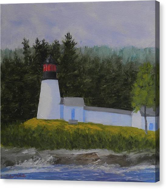 Burnt Island Light Canvas Print