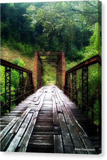 Big South Canvas Print - Burnt Mill Bridge by Lana Williams