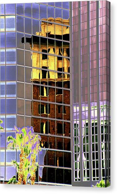 Burnt Out Reflection Canvas Print