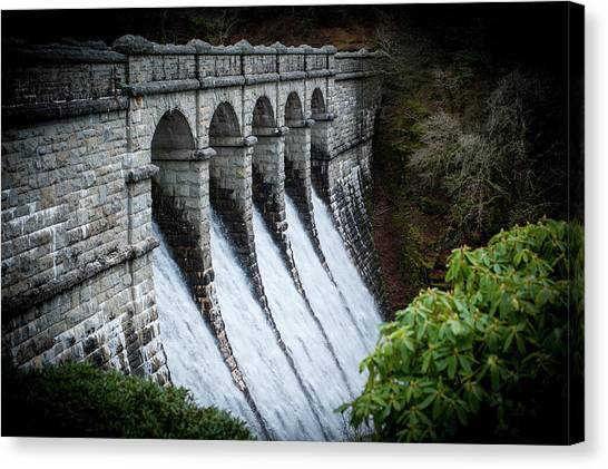 Burrator Reservoir Dam Canvas Print