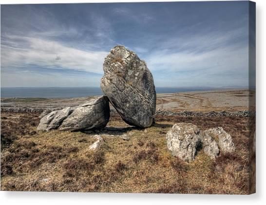 Burren Boulders Canvas Print by John Quinn